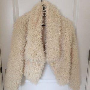 Decree M furry fuzzy faux fur coat jacket